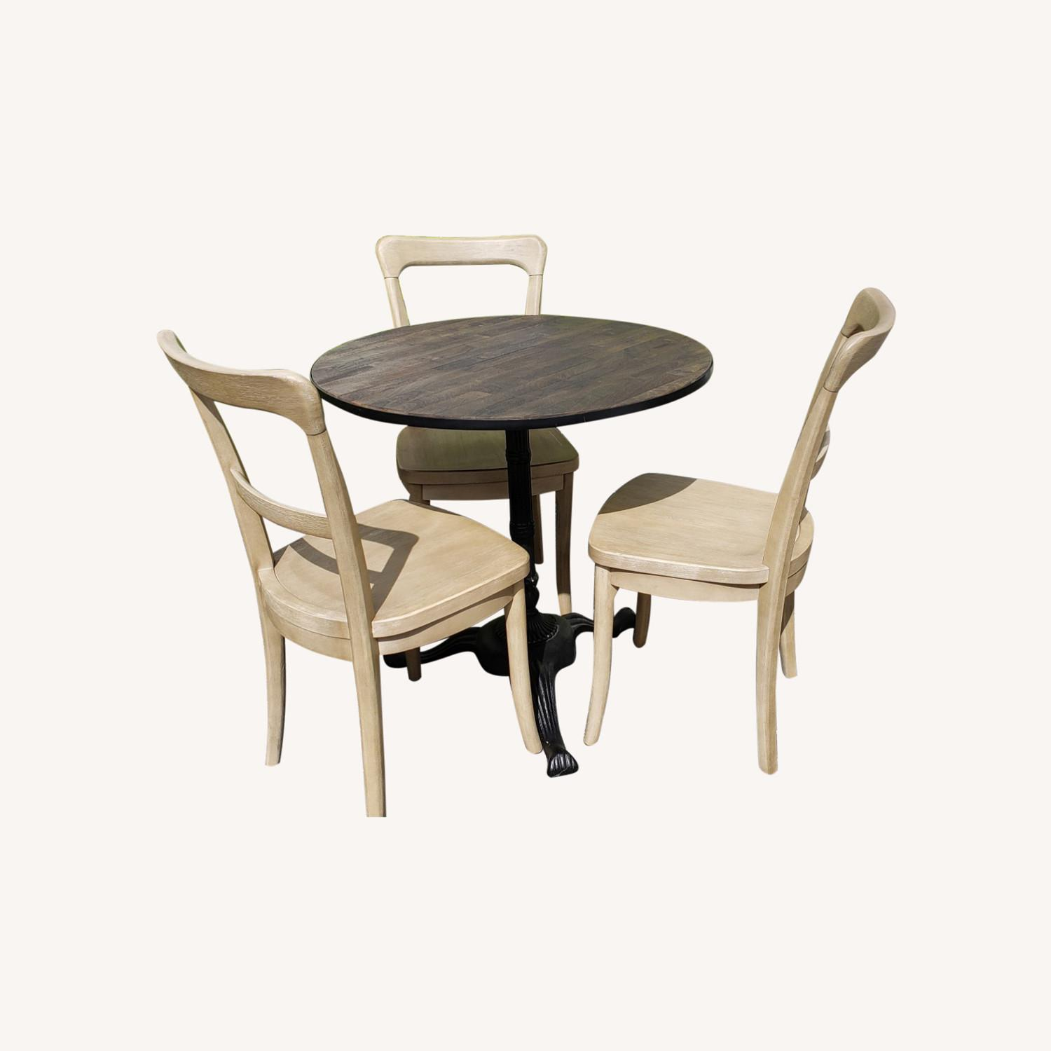 Pottery Barn Rae Bistro Dining Table Set With 3 Chairs Aptdeco