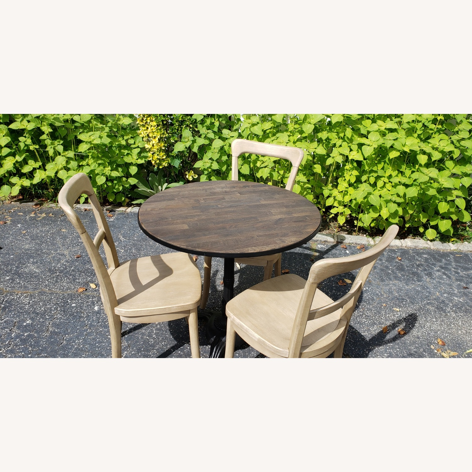 Pottery Barn Rae Bistro Dining Table Set with 3 Chairs - image-2