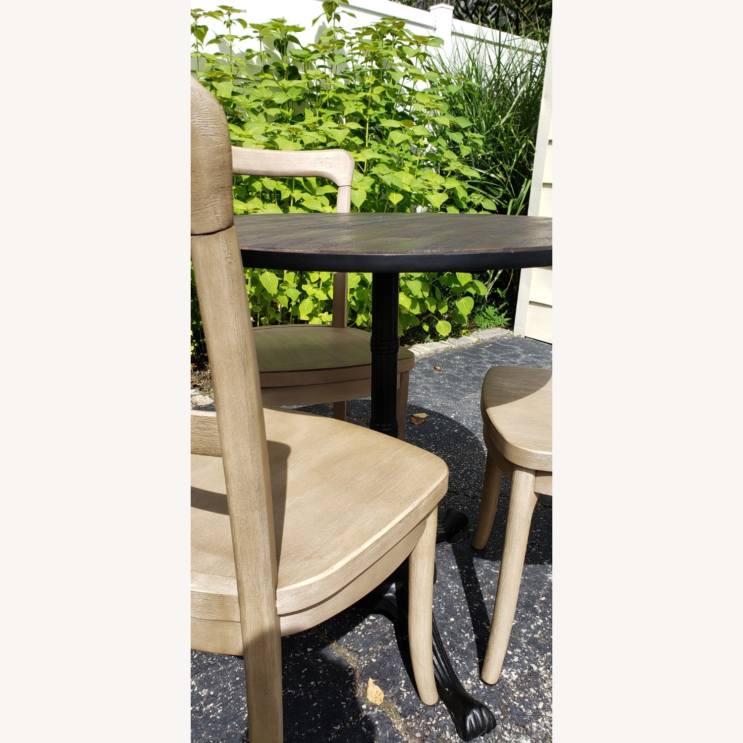 Pottery Barn Rae Bistro Dining Table Set with 3 Chairs - image-4