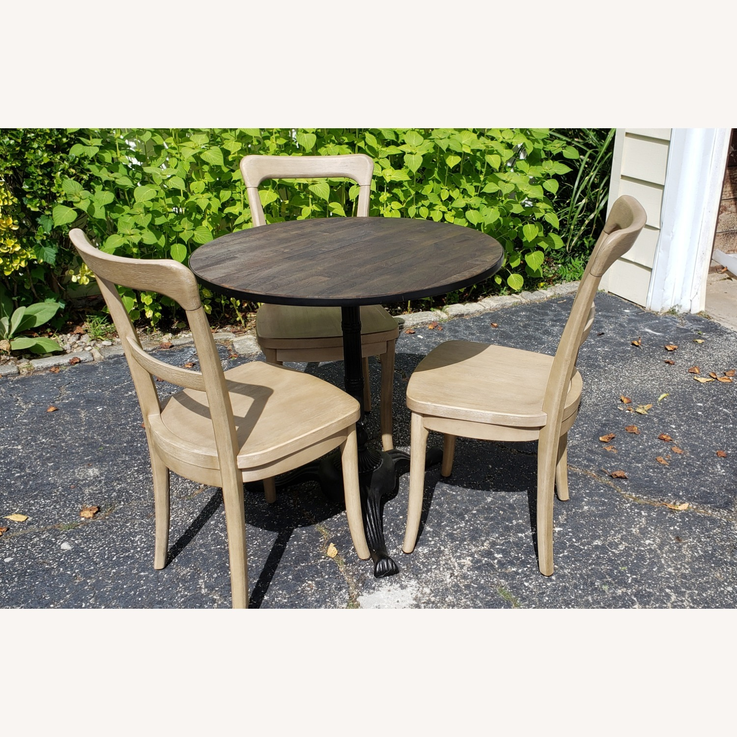 Pottery Barn Rae Bistro Dining Table Set with 3 Chairs - image-1