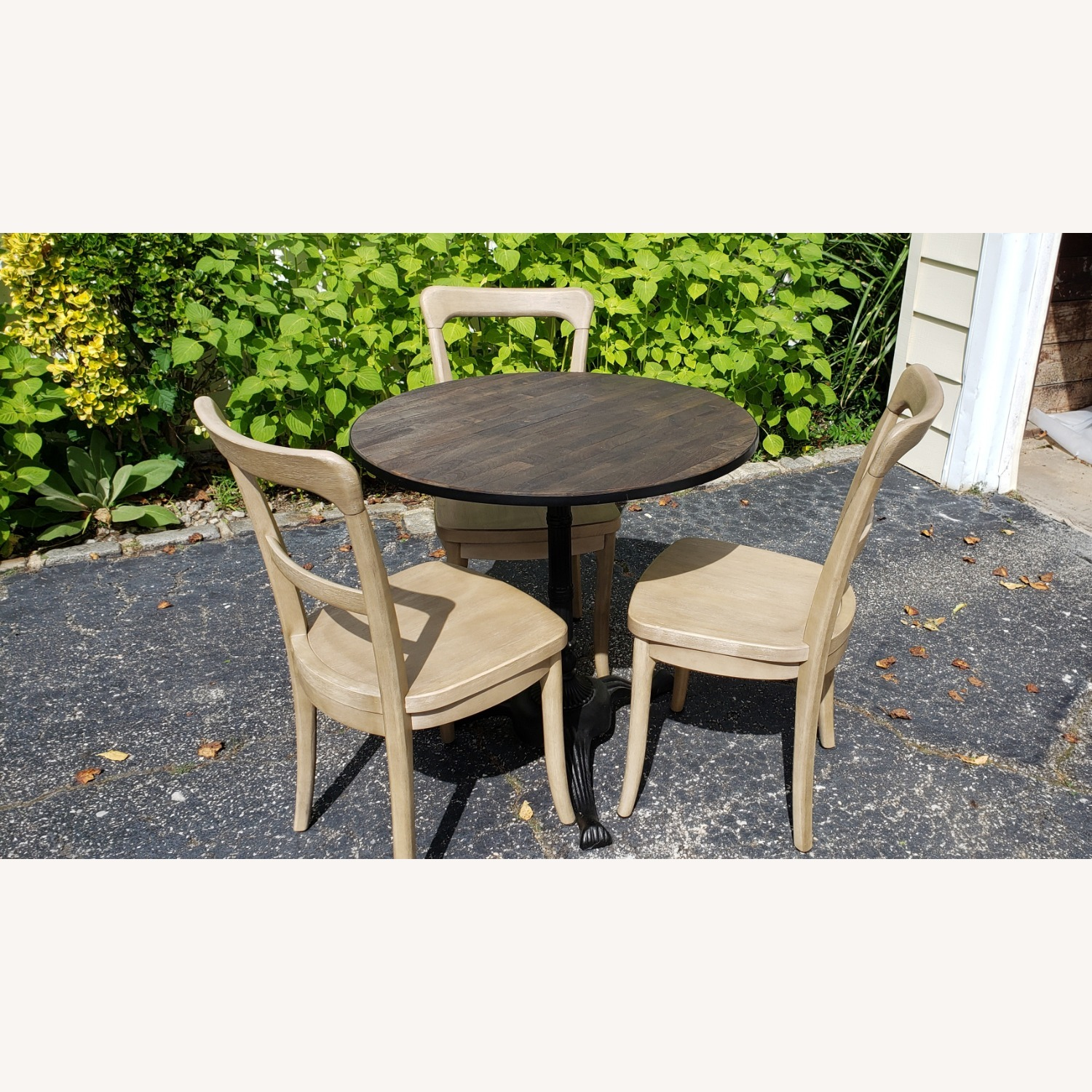 Pottery Barn Rae Bistro Dining Table Set with 3 Chairs - image-3