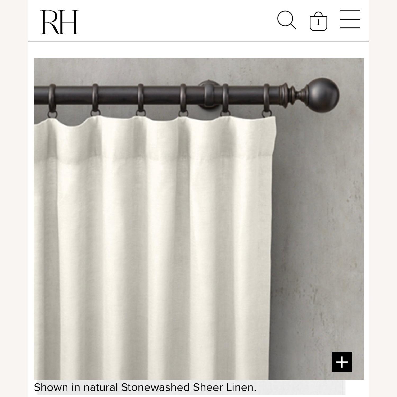 Restoration Hardware Stonewashed Linen Drapery - image-0