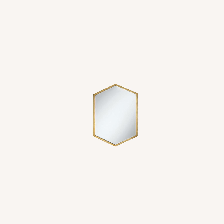 Mirror In Slim Hexagon Shape Gold Finish - image-3