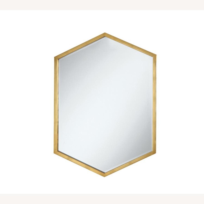 Mirror In Slim Hexagon Shape Gold Finish - image-0