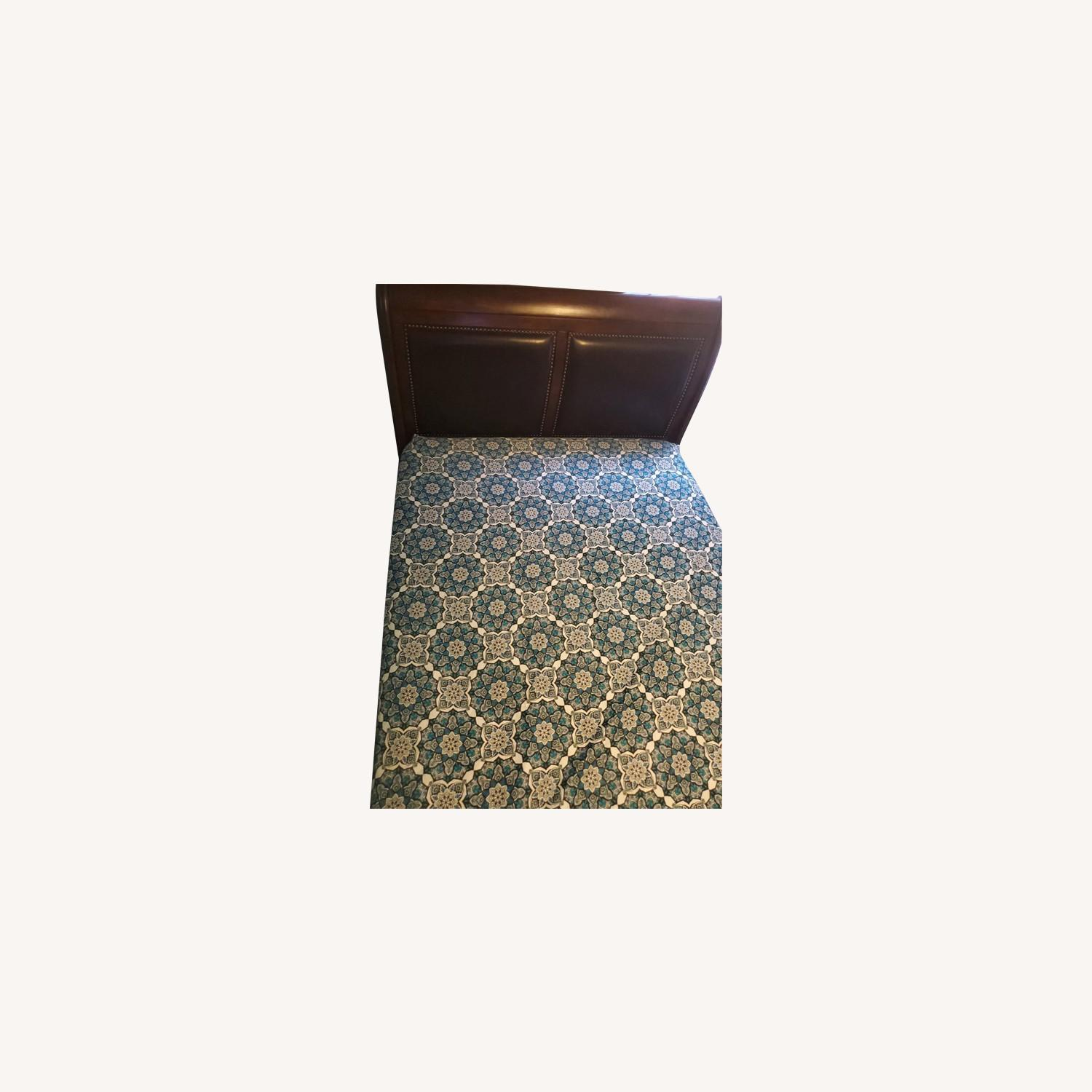 Brown Queen Bed - image-0