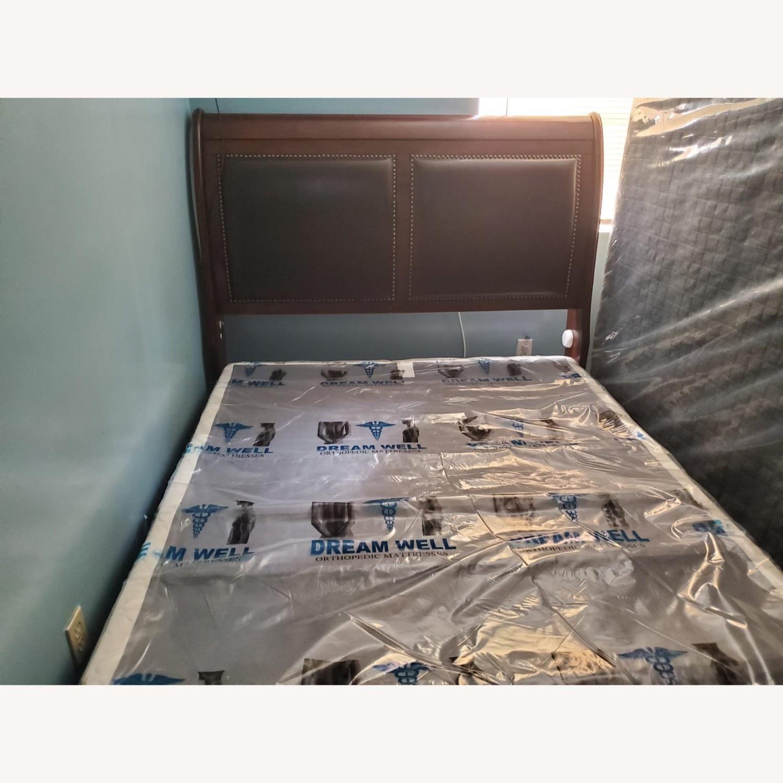 Brown Queen Bed - image-3