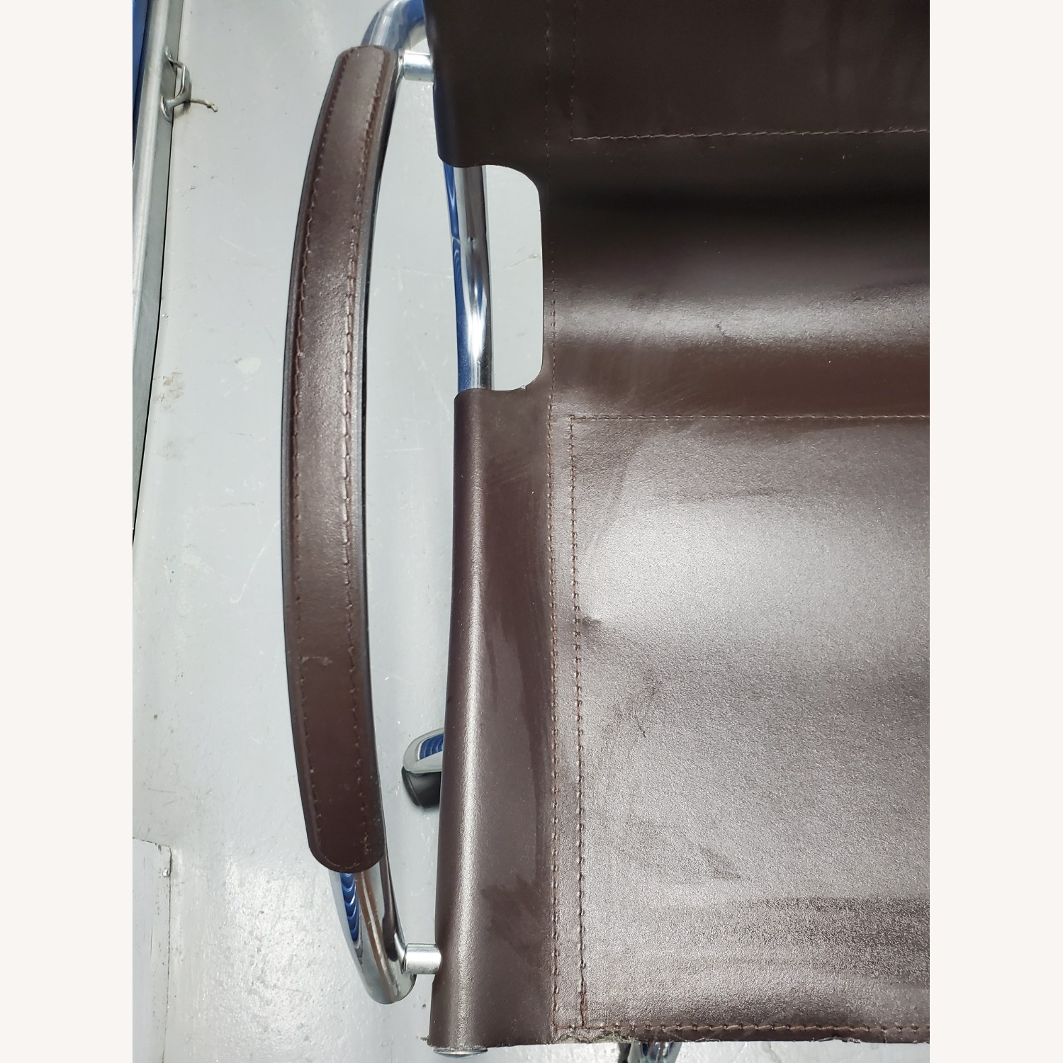 West Elm Leather Office Chair - image-8