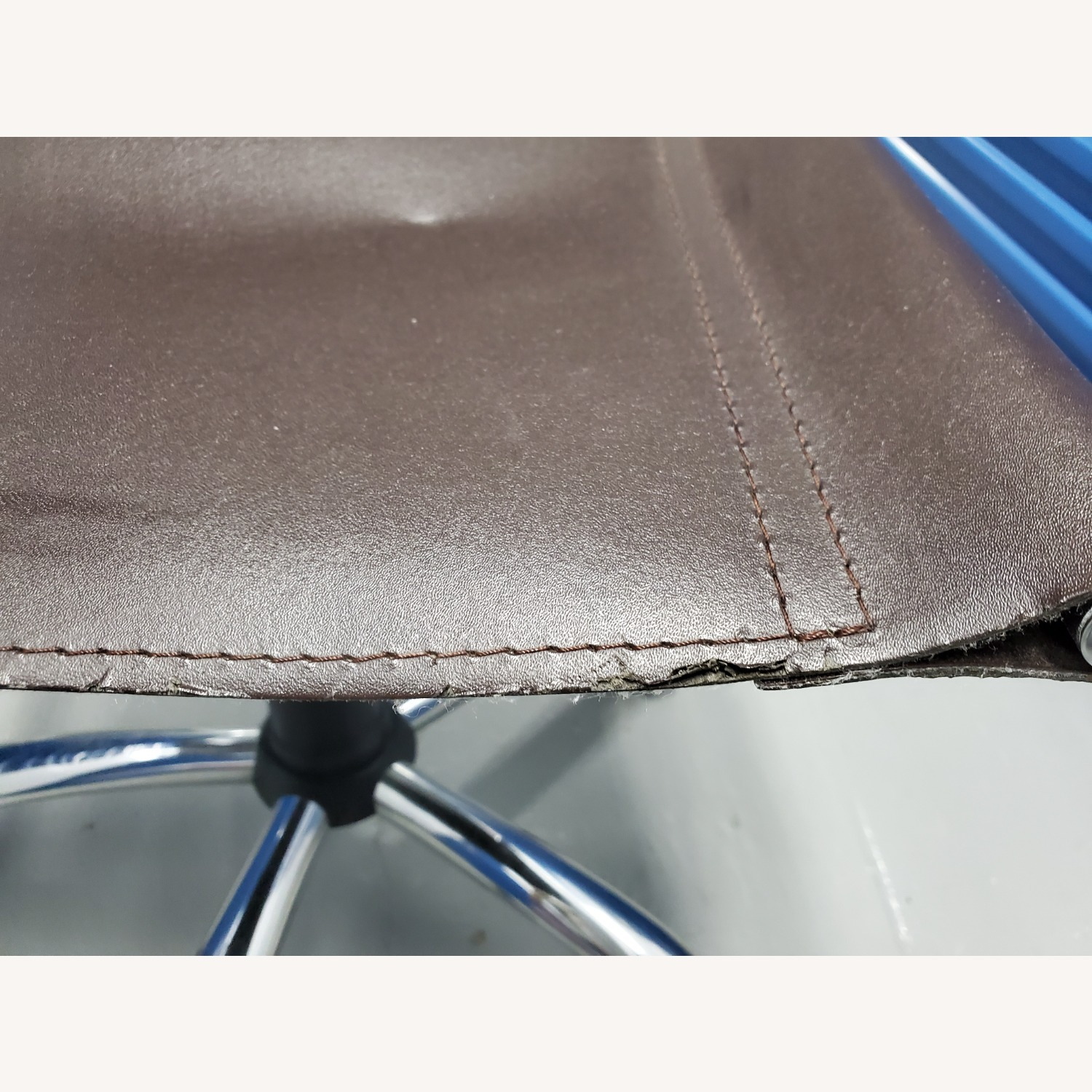 West Elm Leather Office Chair - image-11