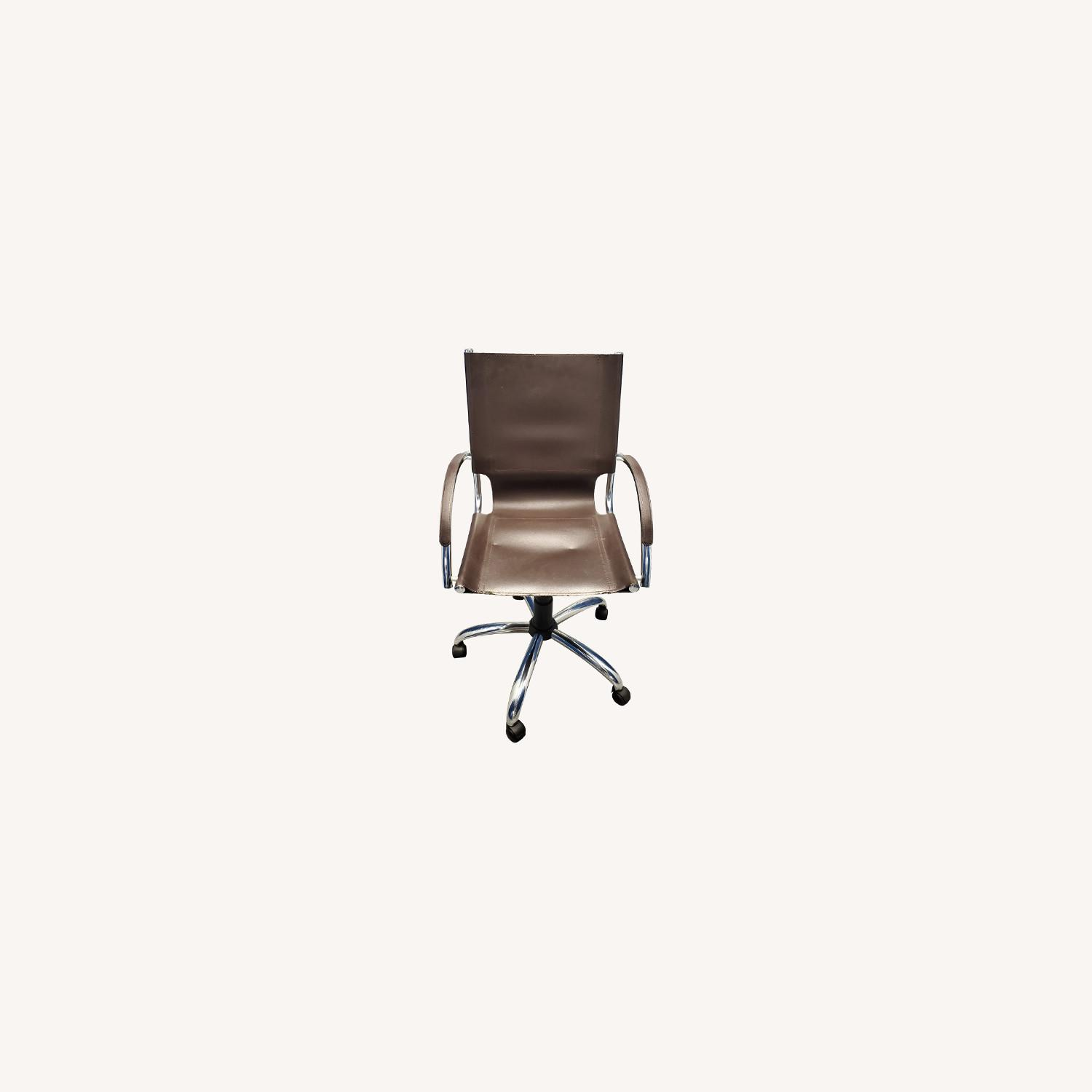 West Elm Leather Office Chair - image-0