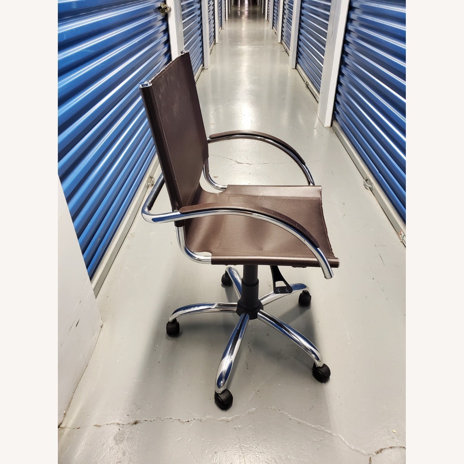 West Elm Leather Office Chair - image-3