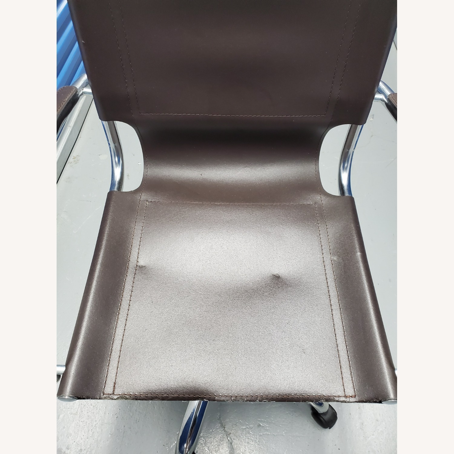 West Elm Leather Office Chair - image-6