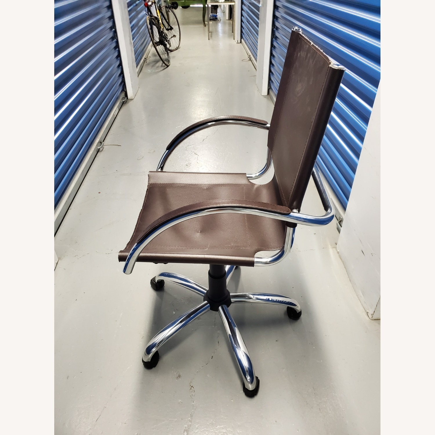 West Elm Leather Office Chair - image-2