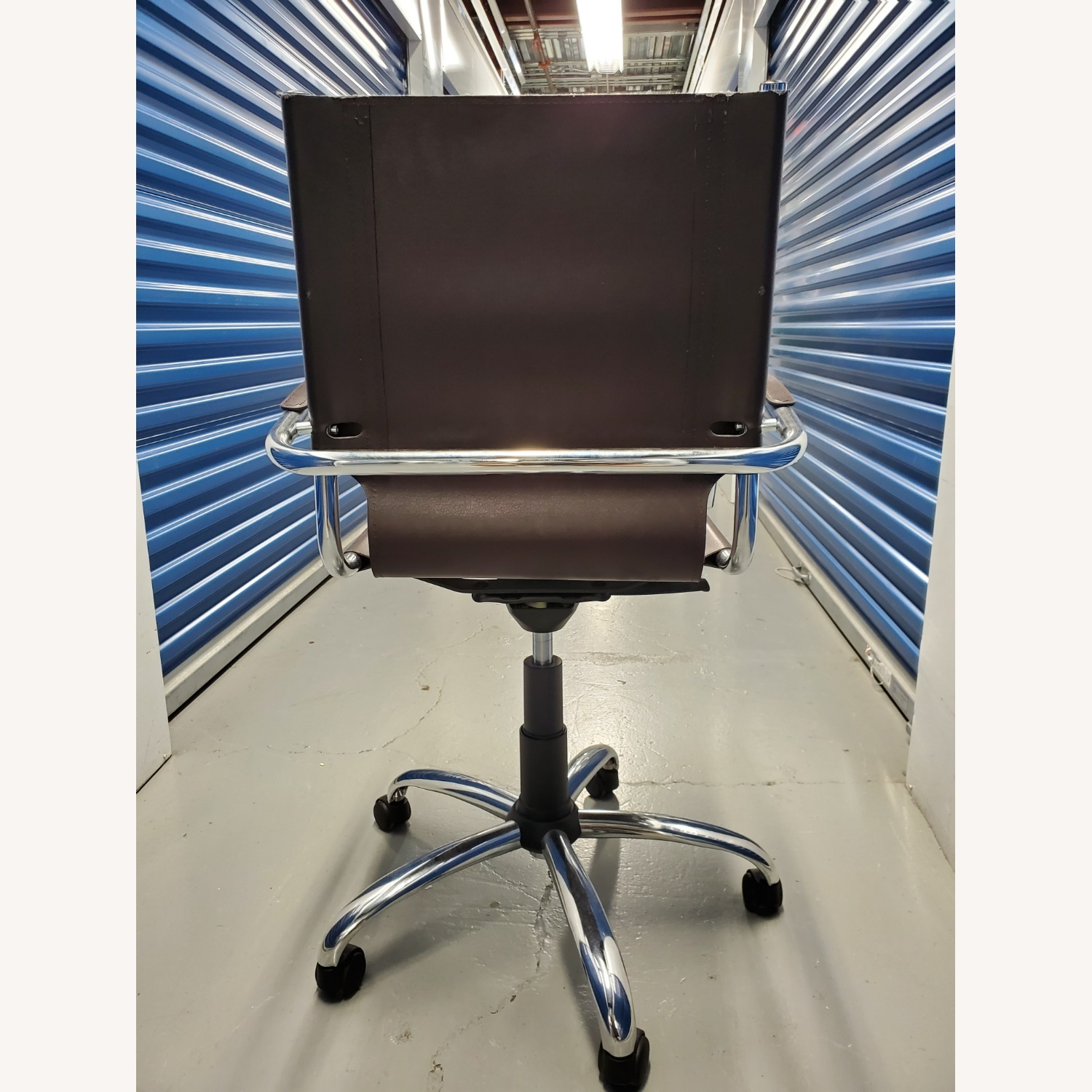 West Elm Leather Office Chair - image-4