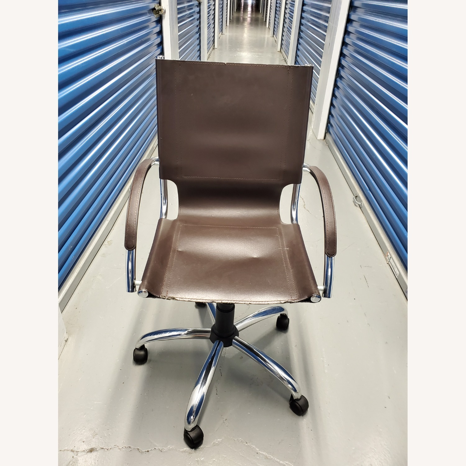 West Elm Leather Office Chair - image-1