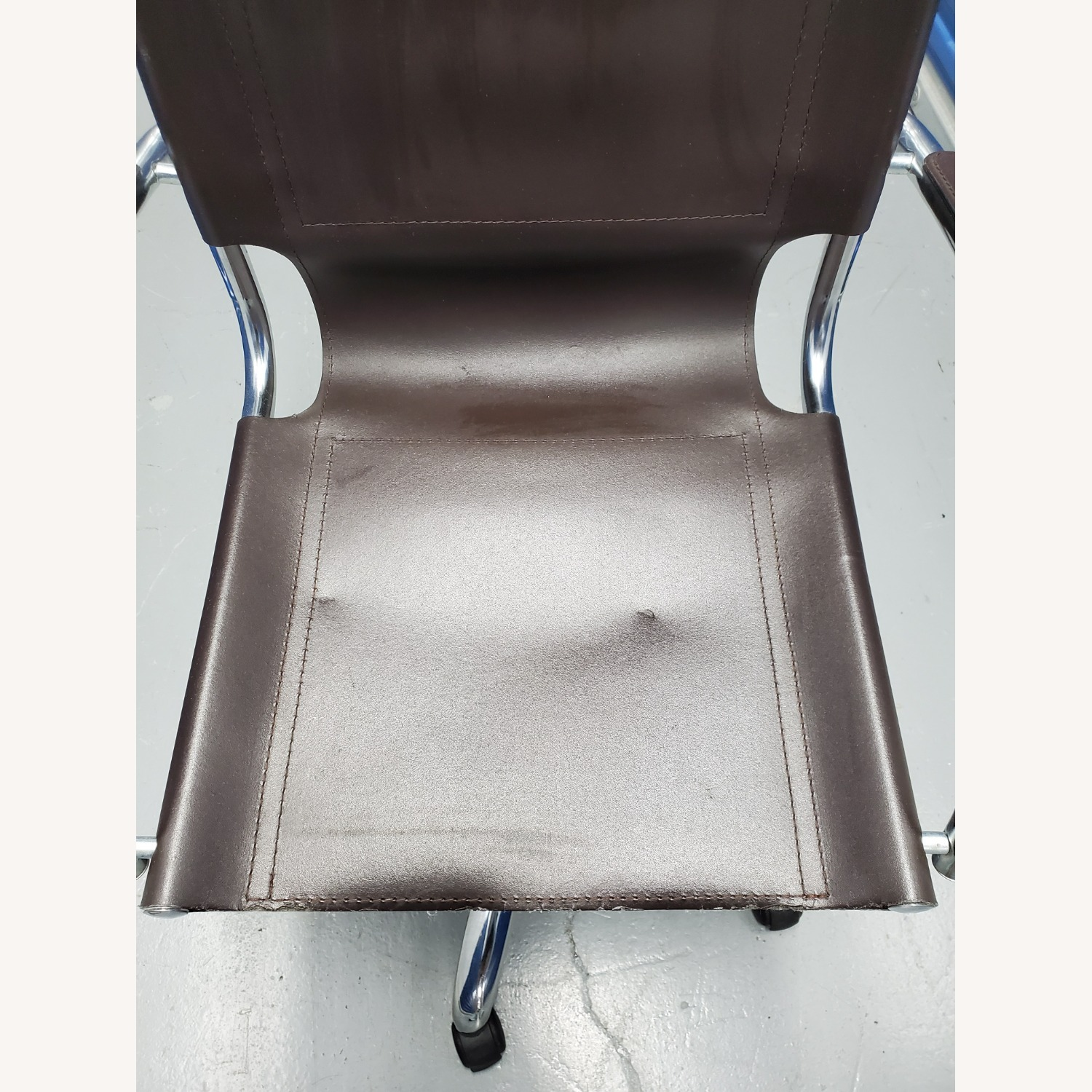 West Elm Leather Office Chair - image-15
