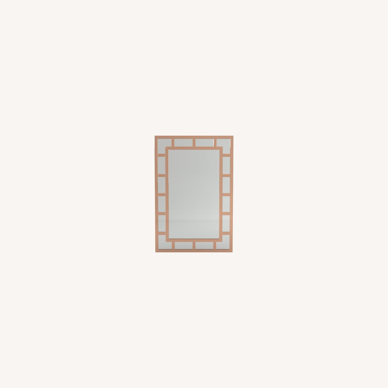 Mirror In Rose Gold Finish W/ Overlaying Design - image-4