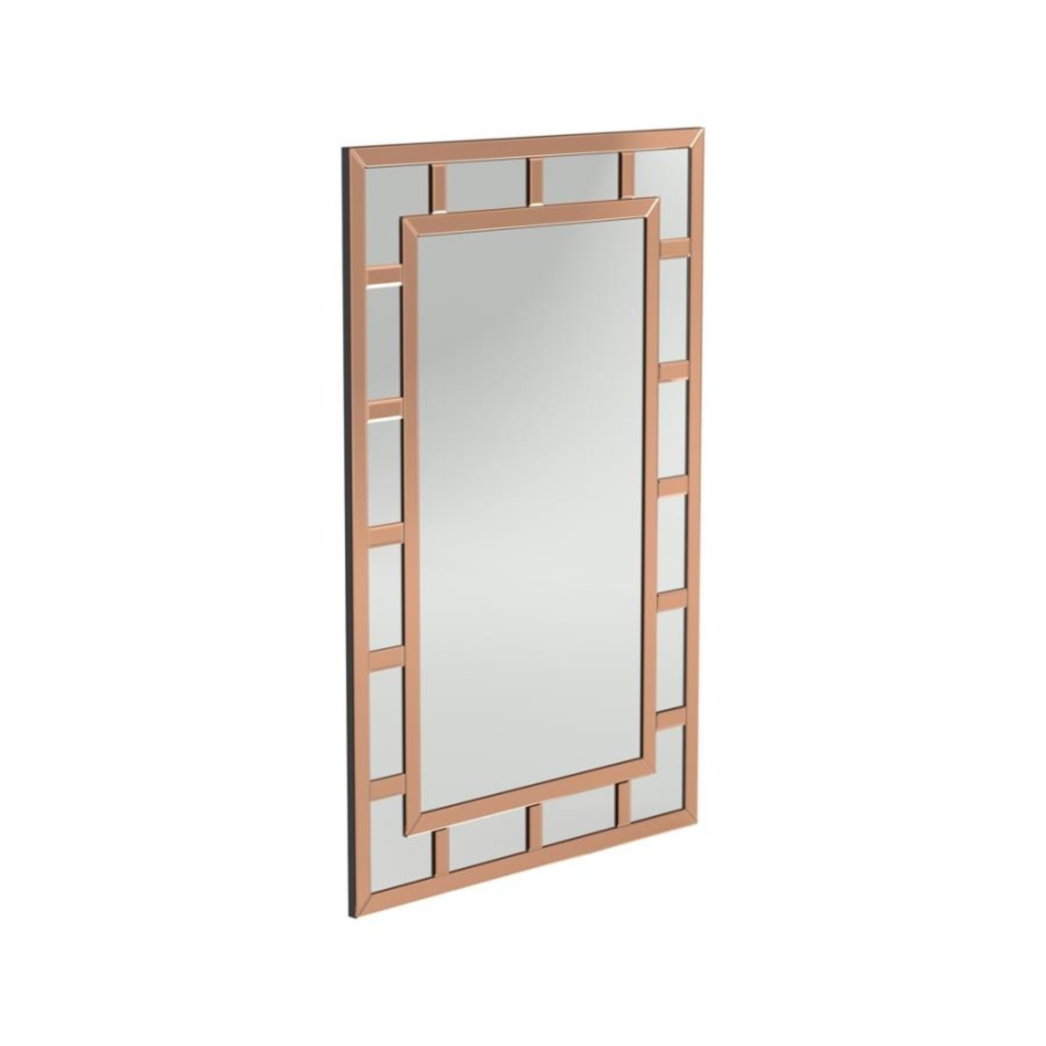 Mirror In Rose Gold Finish W/ Overlaying Design - image-0