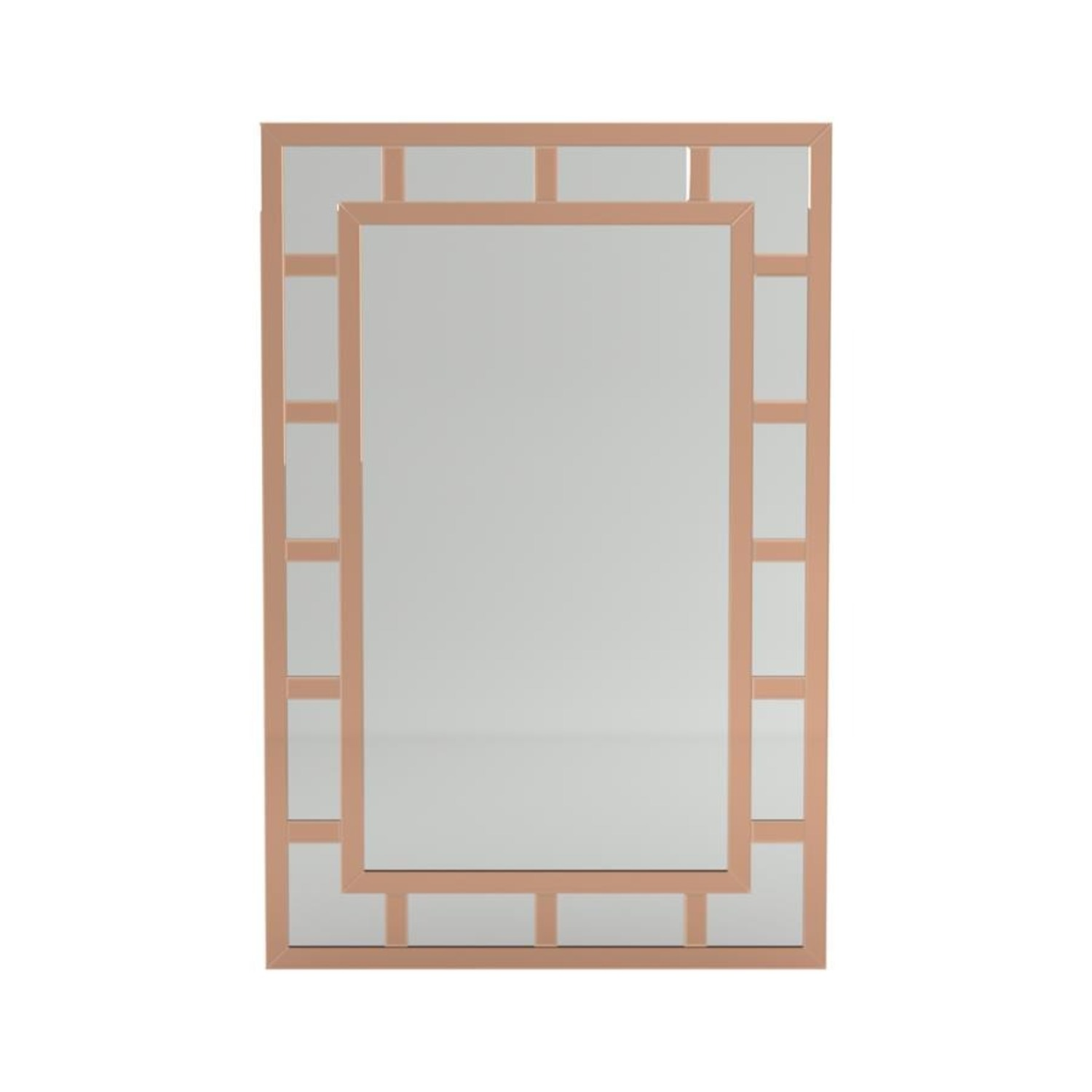 Mirror In Rose Gold Finish W/ Overlaying Design - image-1
