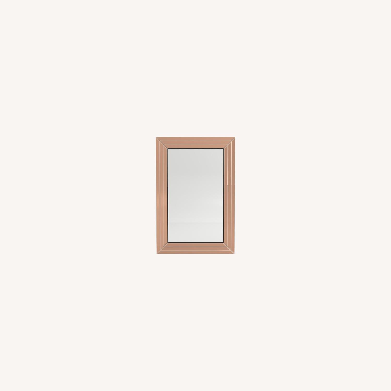 Rectangular Mirror In Rose Gold Finish - image-4