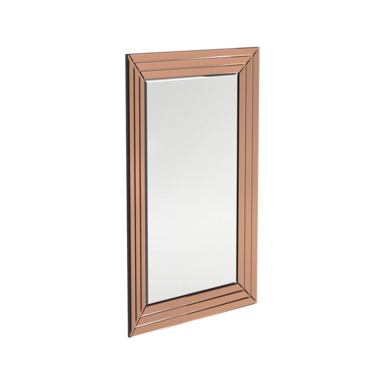 Rectangular Mirror In Rose Gold Finish - image-0