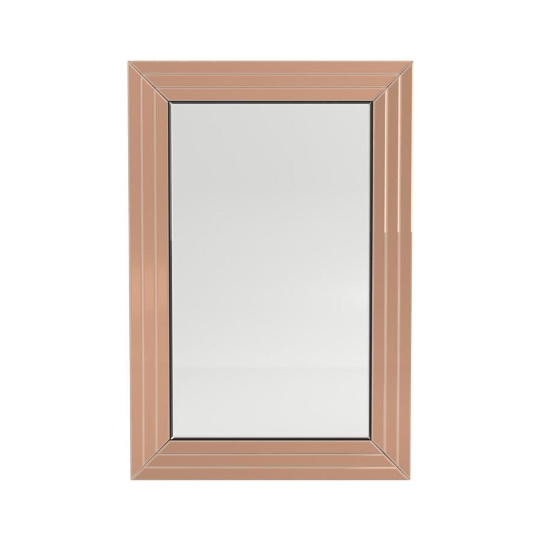 Rectangular Mirror In Rose Gold Finish - image-1