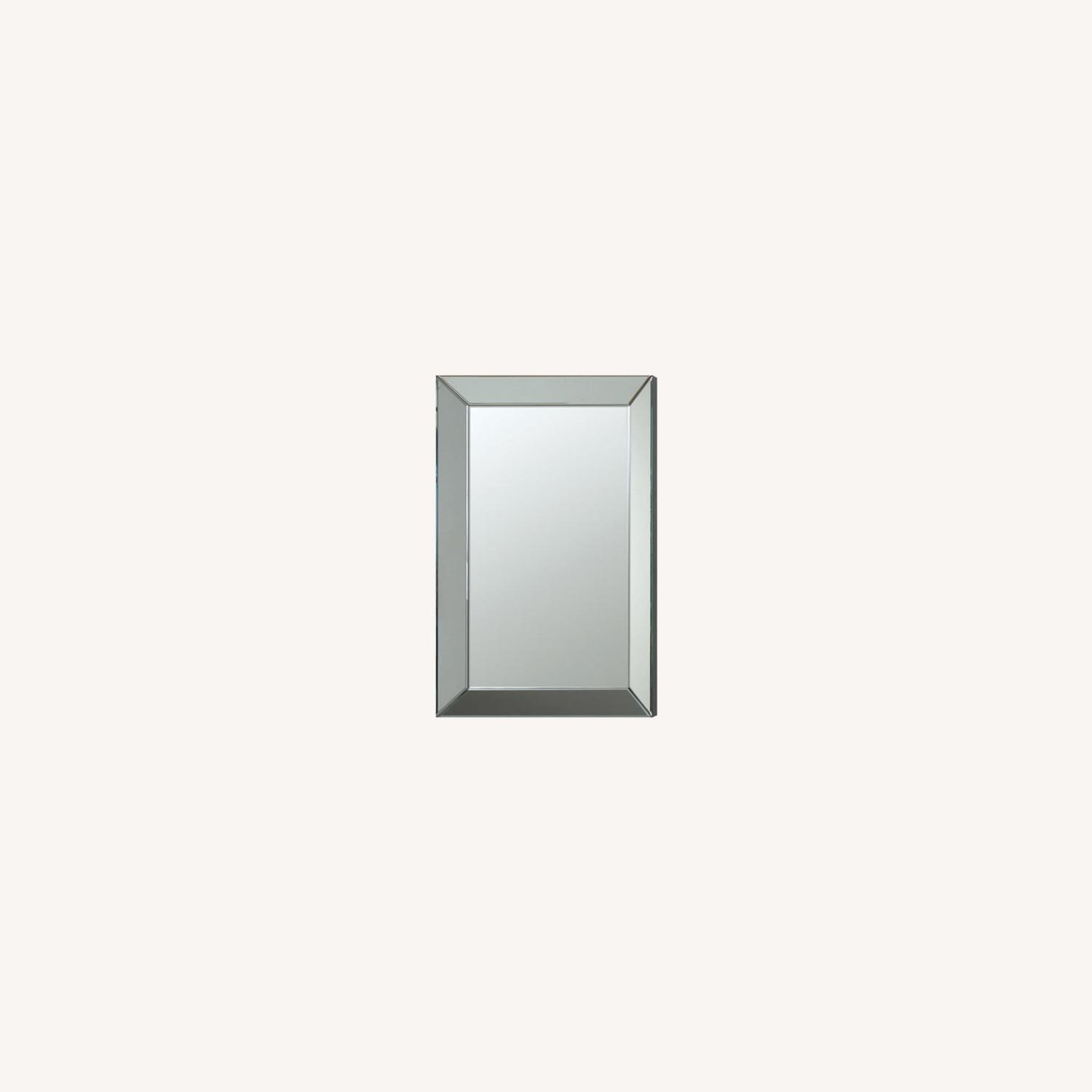 Rectangular Clear Mirror W/ Beveled Edges - image-3
