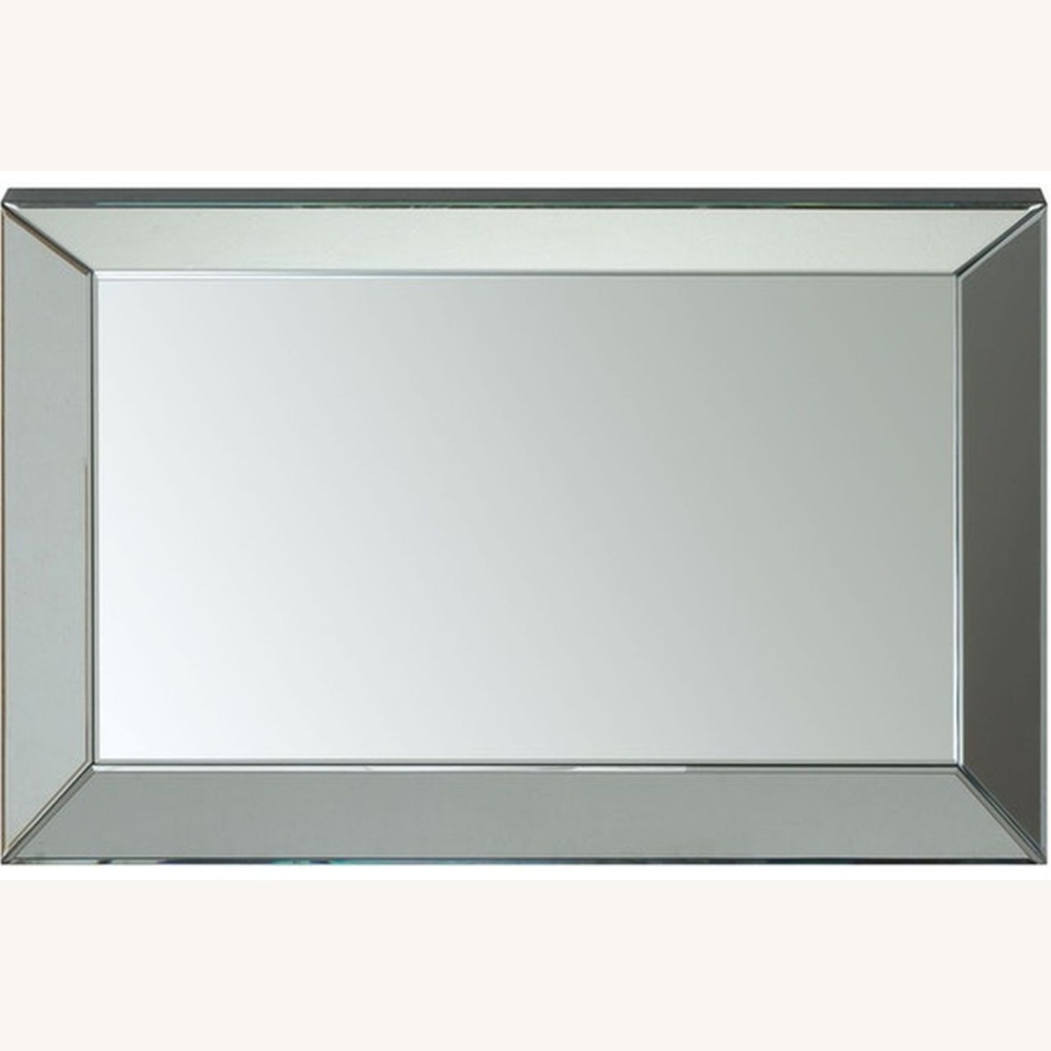 Rectangular Clear Mirror W/ Beveled Edges - image-2