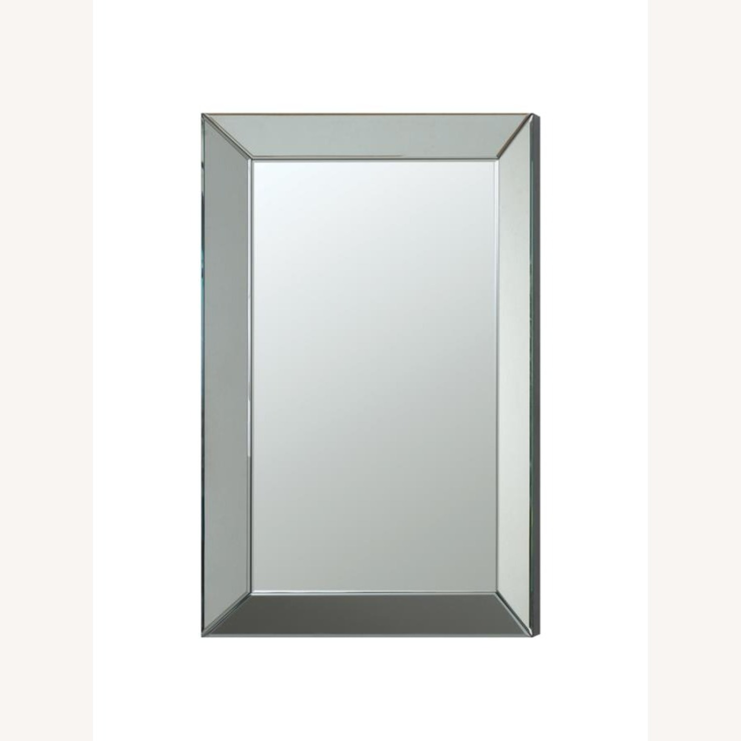 Rectangular Clear Mirror W/ Beveled Edges - image-0