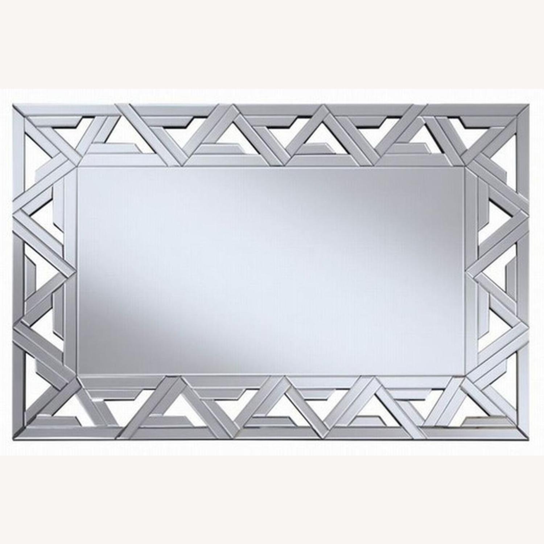 Decorative Clear Mirror W/ Geometric Design - image-2
