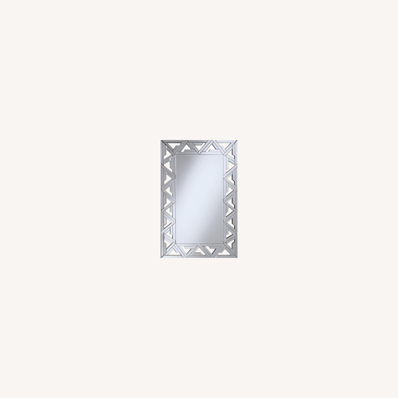 Decorative Clear Mirror W/ Geometric Design - image-3