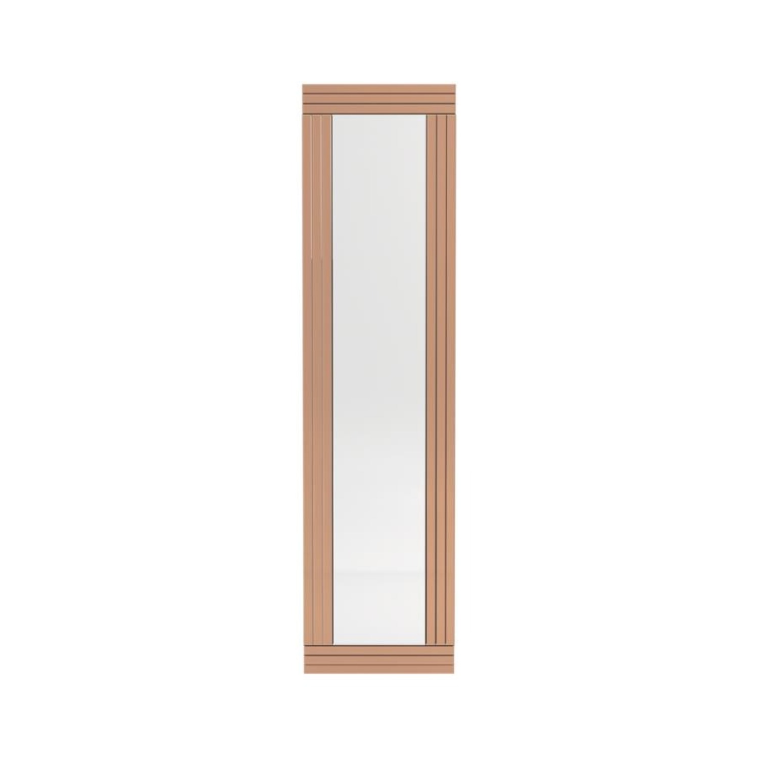Wall Mirror In Rose Gold W/ Clean Lined Silhouette - image-1