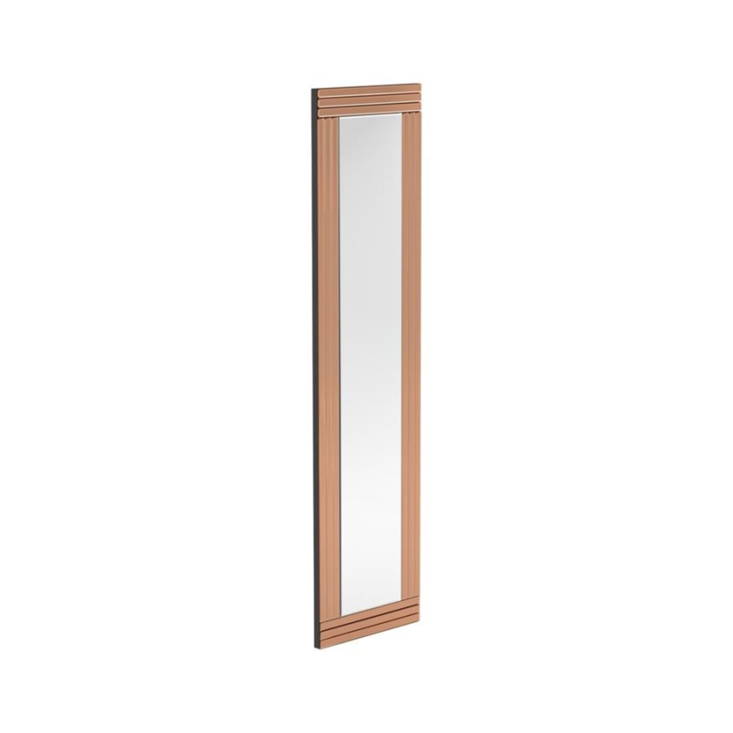Wall Mirror In Rose Gold W/ Clean Lined Silhouette - image-0