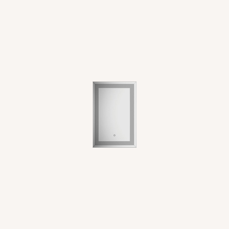 Rectangular Wall Mirror In Silver Finish - image-5