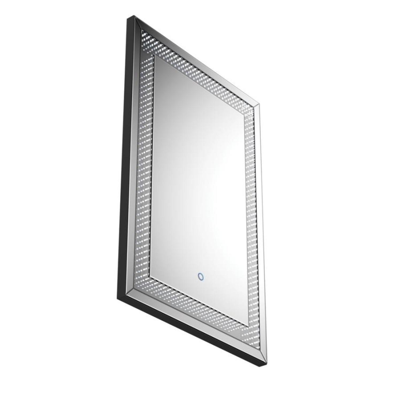 Rectangular Wall Mirror In Silver Finish - image-2