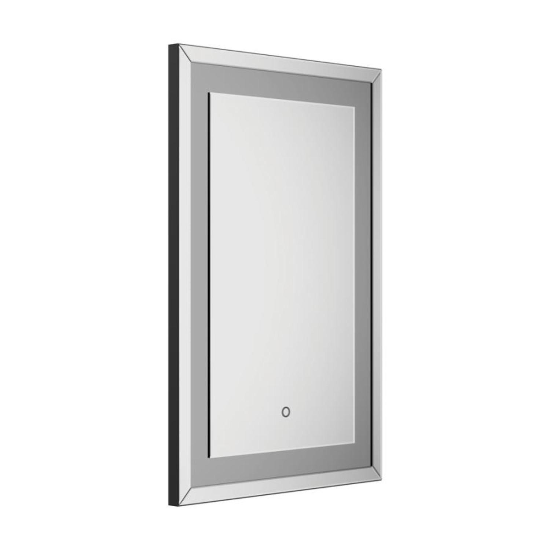 Rectangular Wall Mirror In Silver Finish - image-0