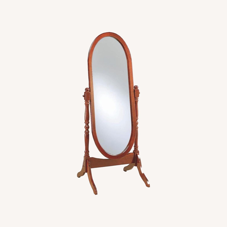 Cheval Standing Mirror In Merlot Finish - image-3