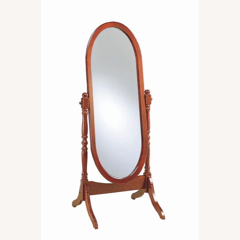 Cheval Standing Mirror In Merlot Finish - image-0
