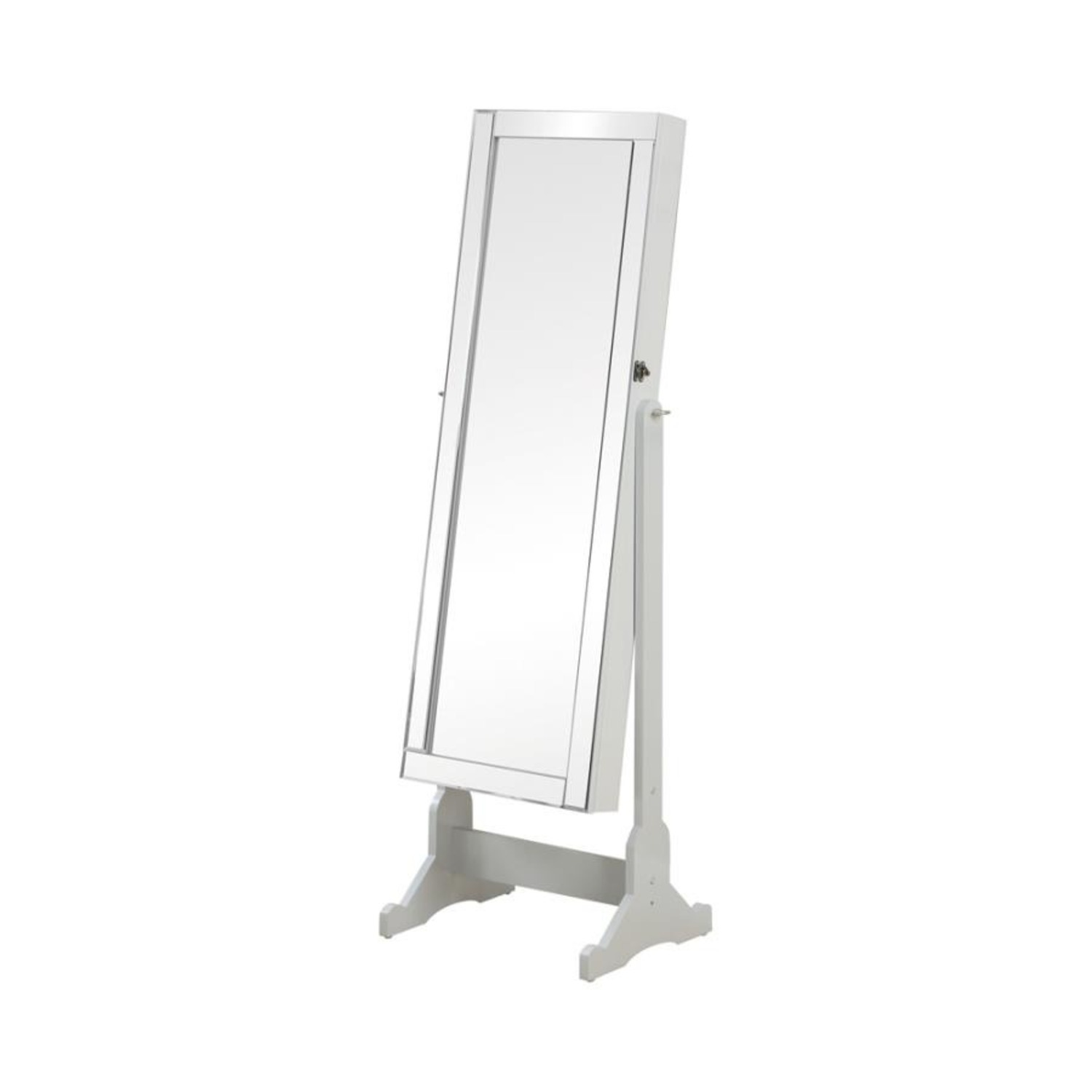 Tilting Jewelry Mirror In Dove Grey Finish - image-0