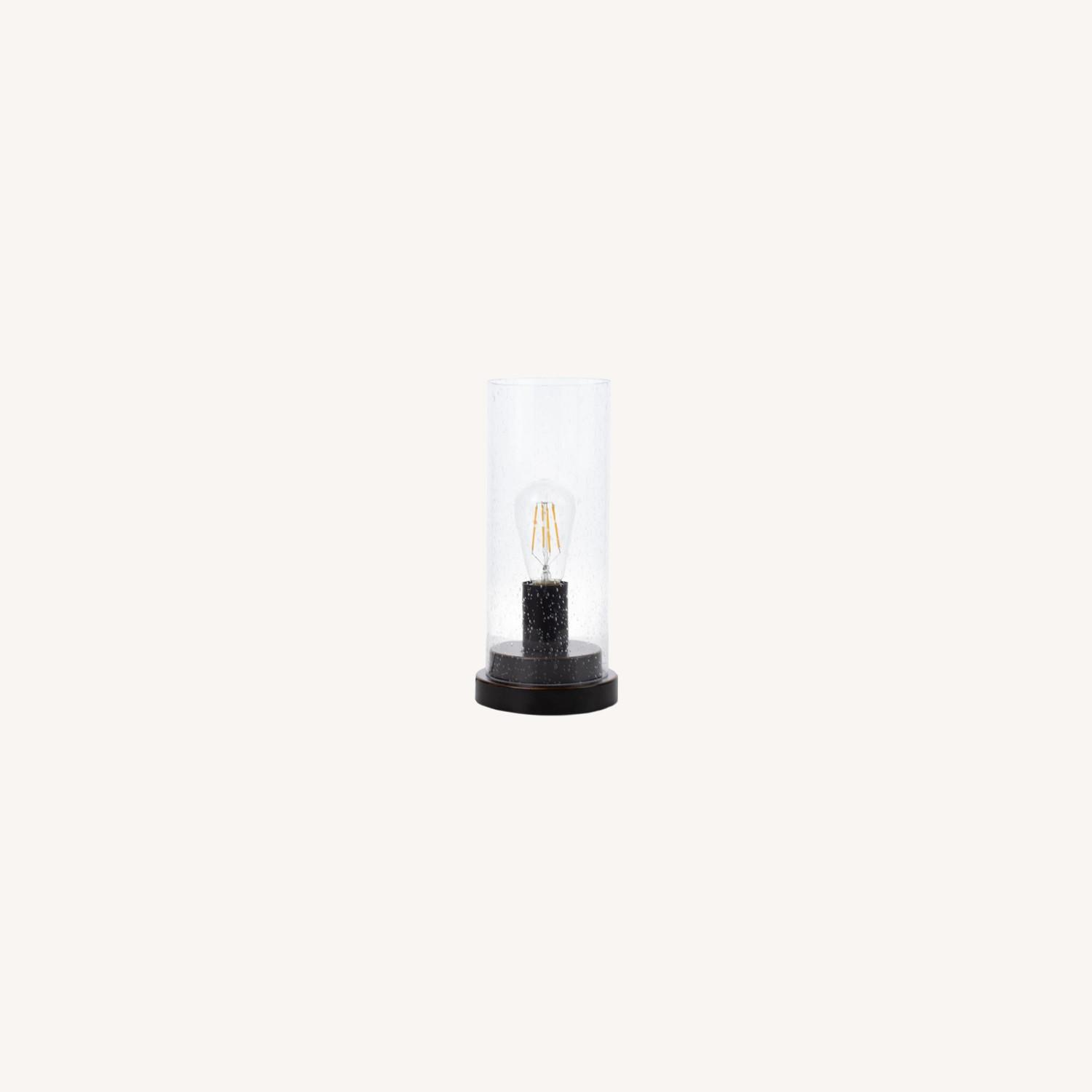 Modern Table Lamp In Bronze/Clear Finish - image-3