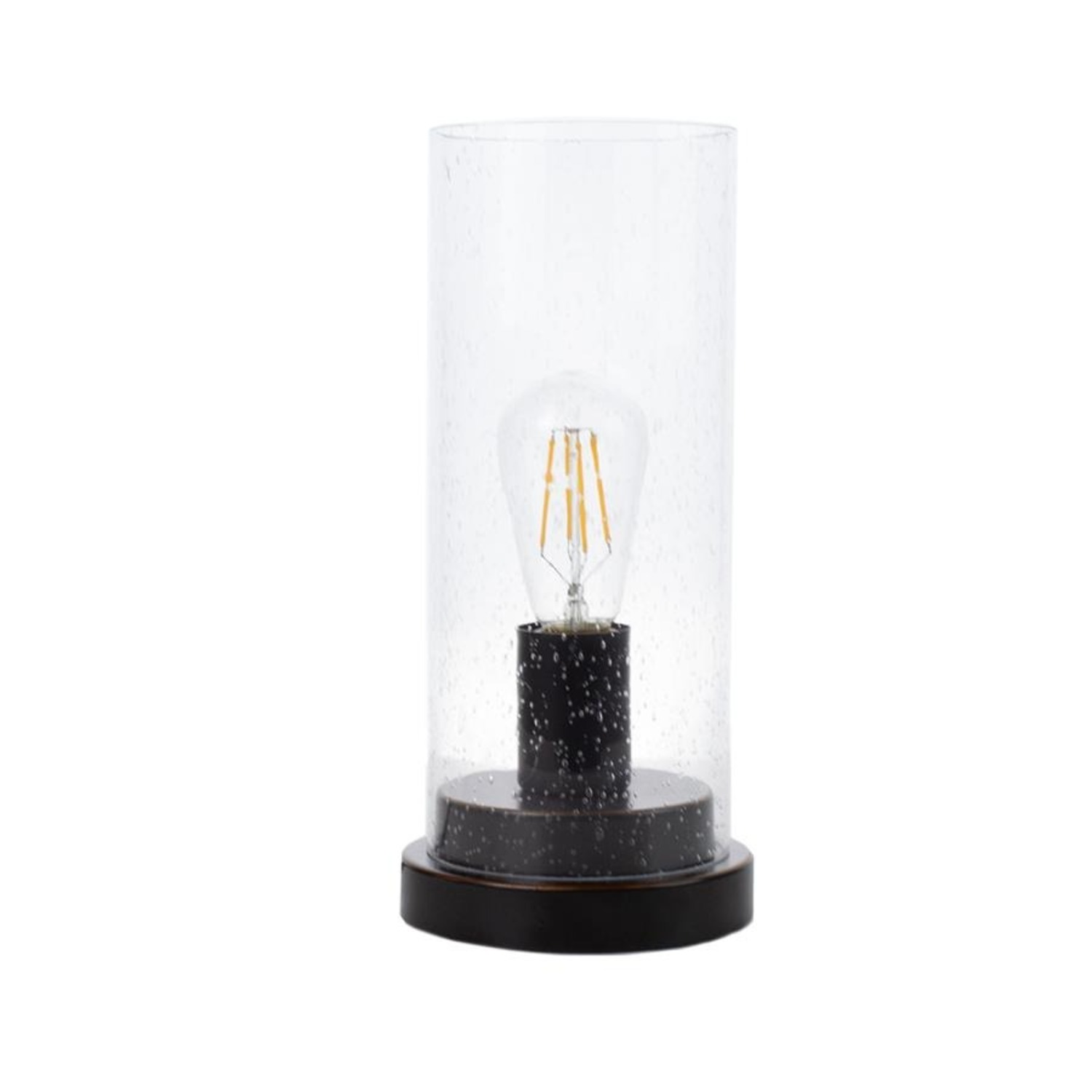 Modern Table Lamp In Bronze/Clear Finish - image-0