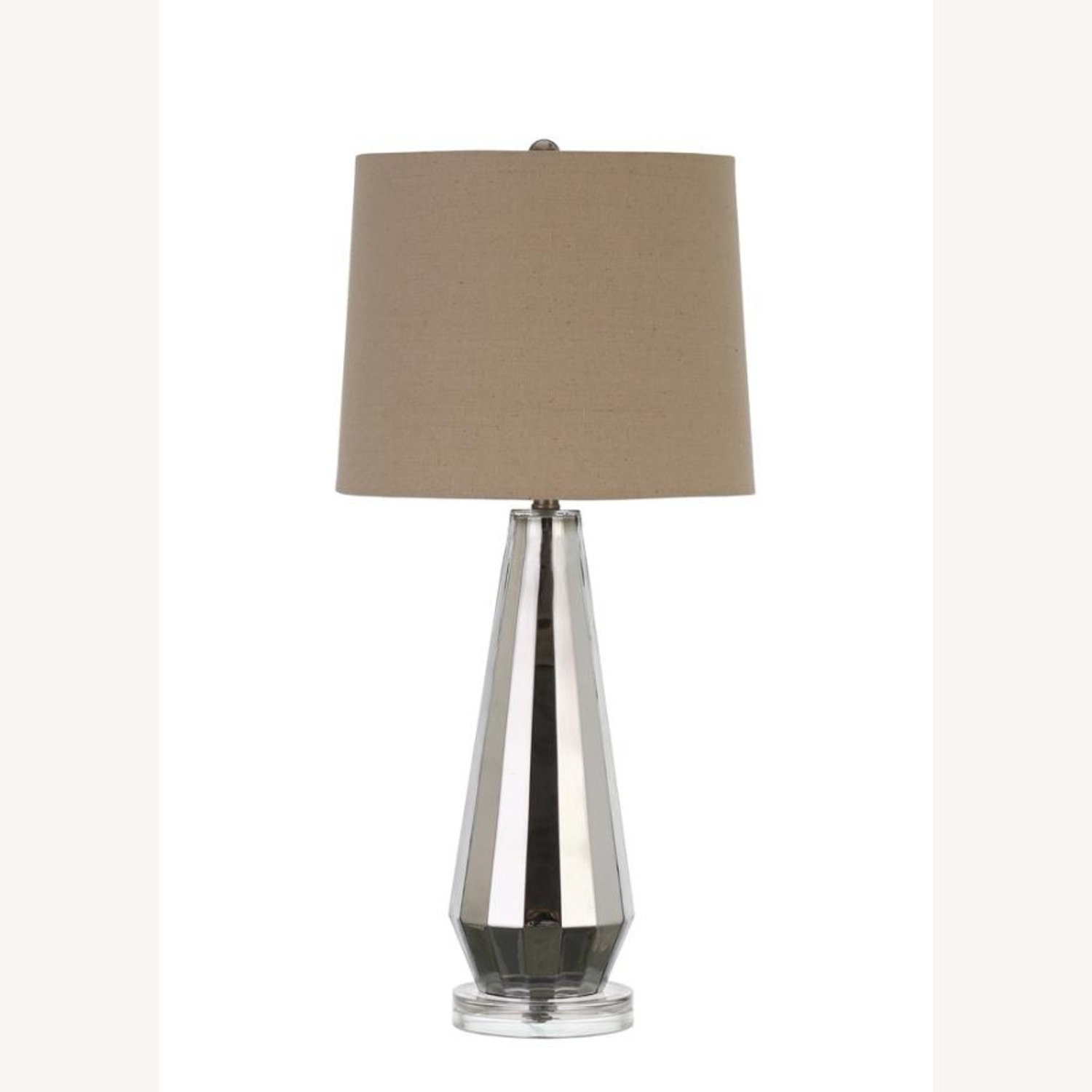 Table Lamp W/ Crystal-Like Base In Creamy White - image-0