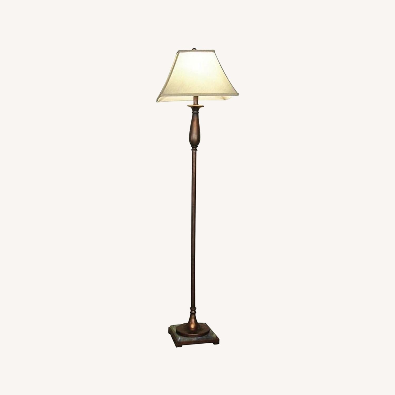 Metal Floor Lamp In Bronze Finish - image-3