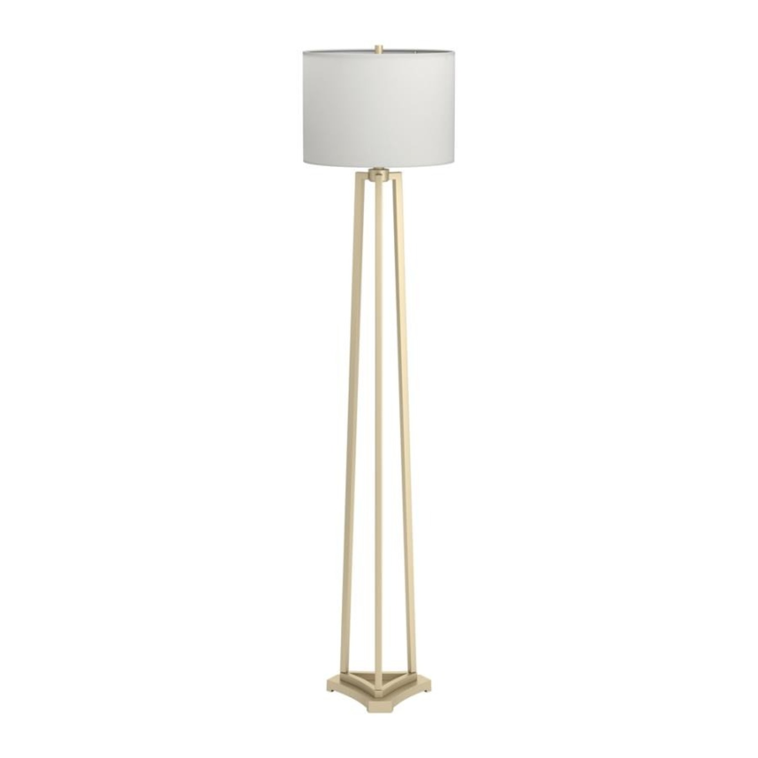 Contemporary Floor Lamp In Metal Gold Finish - image-0