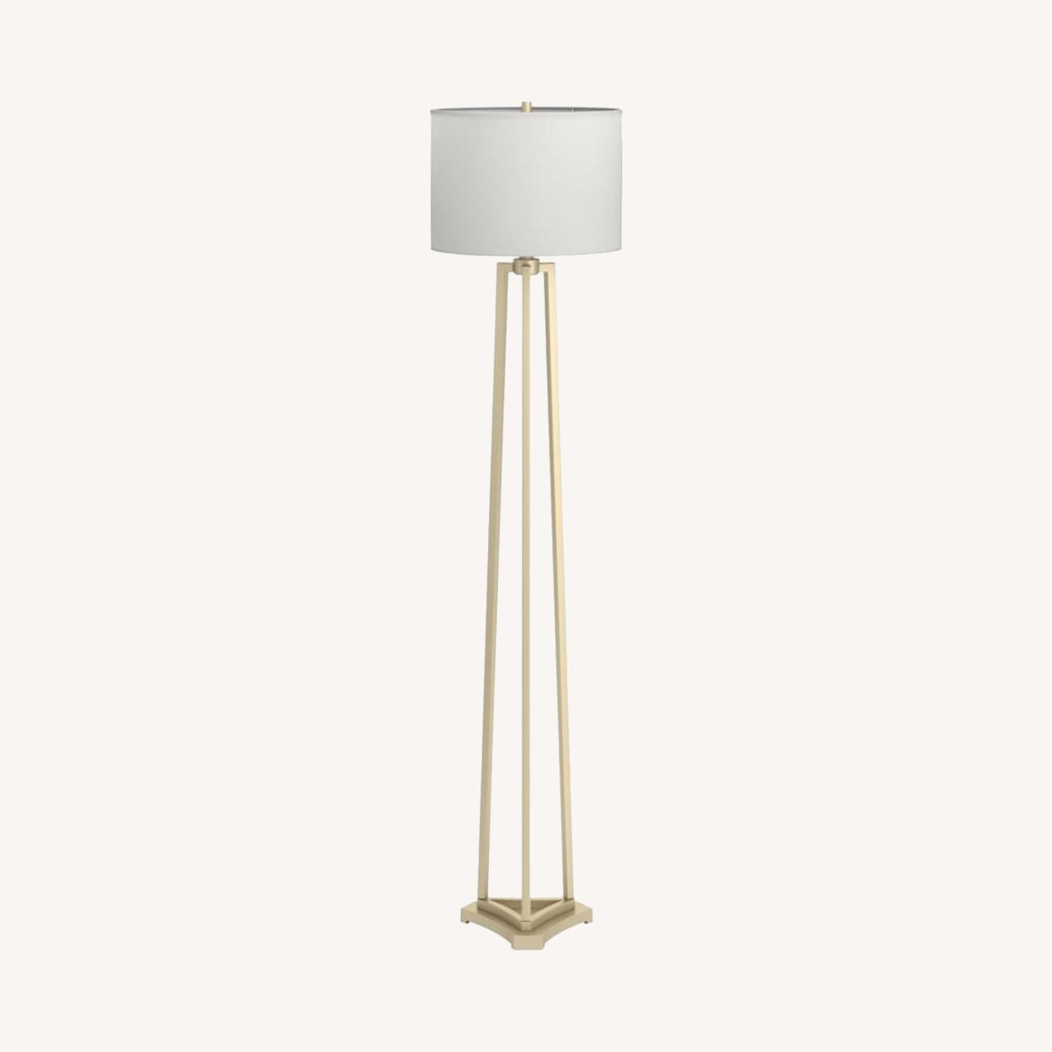 Contemporary Floor Lamp In Metal Gold Finish - image-3