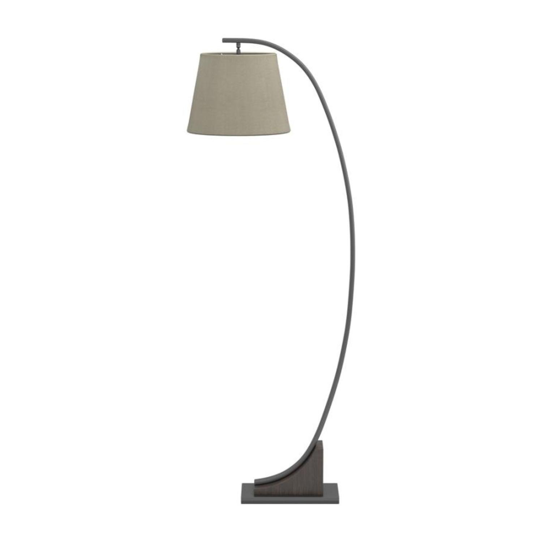 Floor Lamp In Brown Linen Finish - image-2