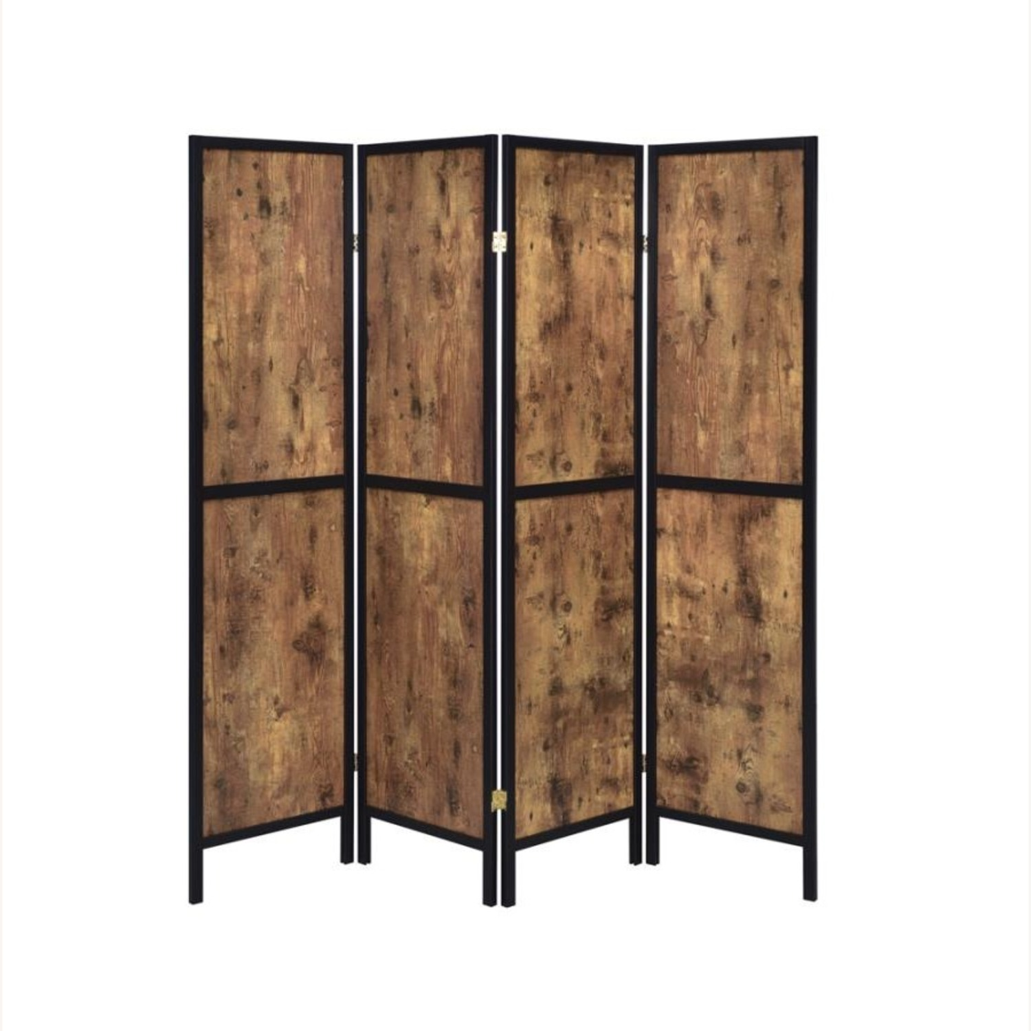 Four-Panel Folding Screen In Antique Nutmeg - image-1