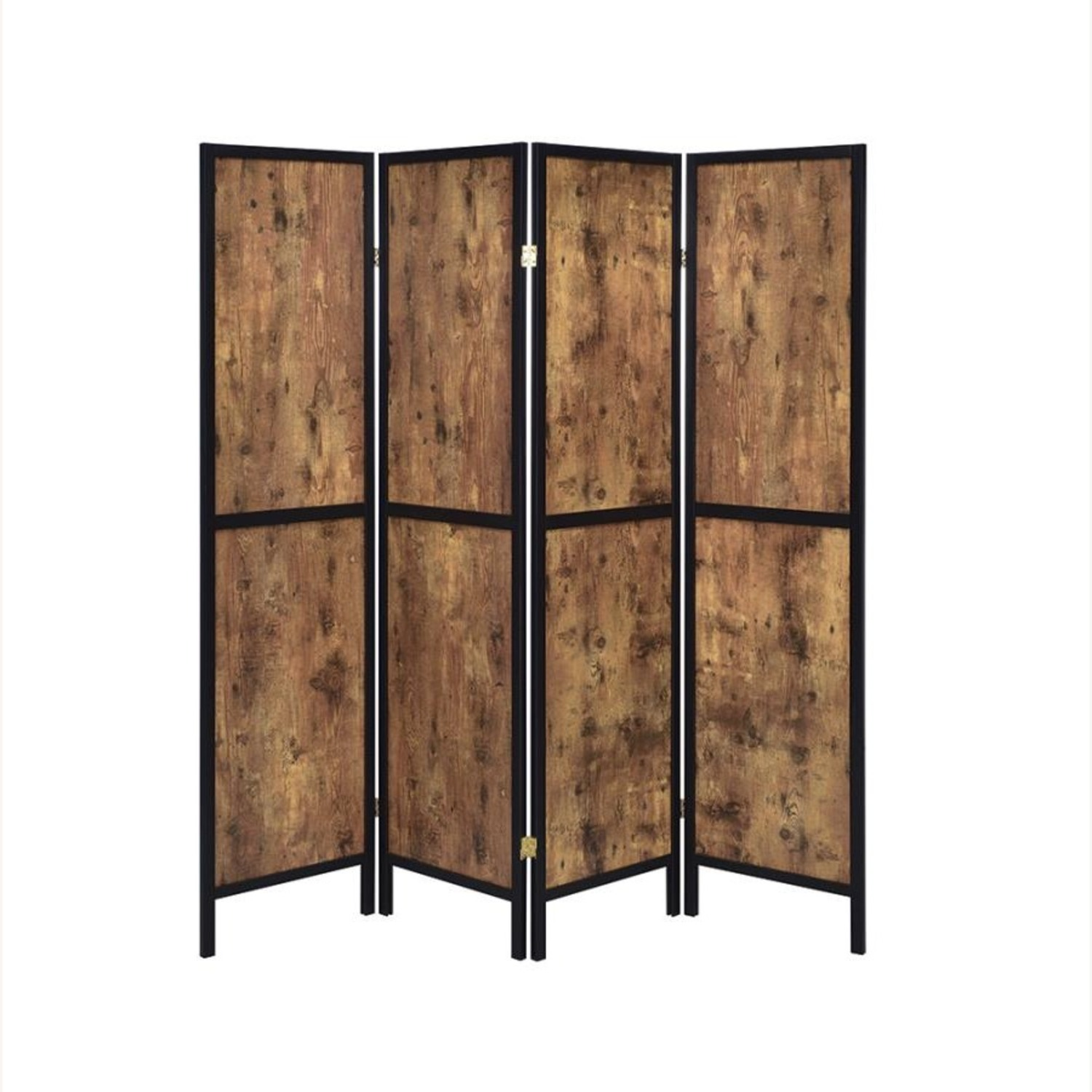 Four-Panel Folding Screen In Antique Nutmeg - image-0