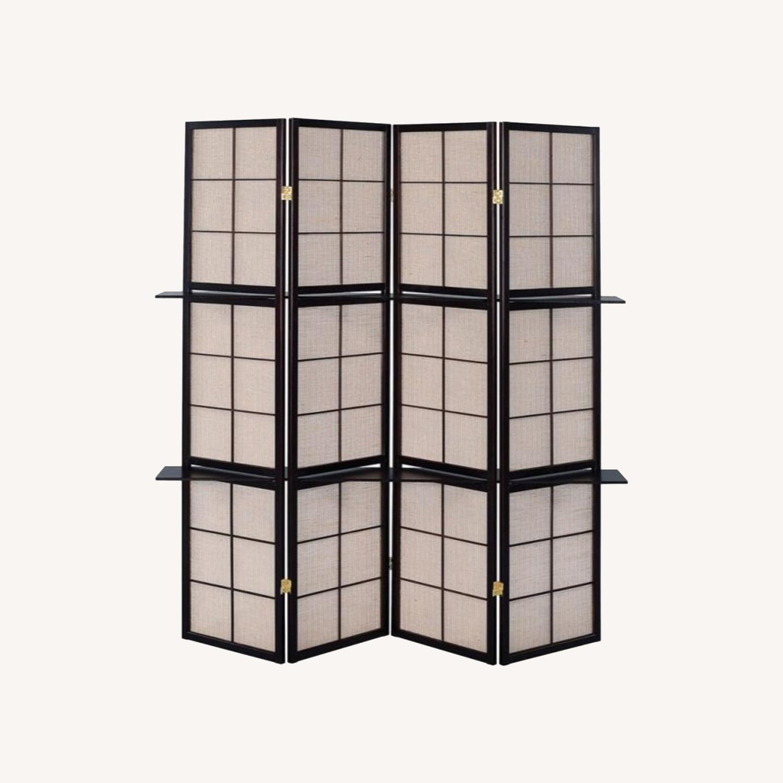 Four-Panel Folding Screen W/ Removable Shelves - image-5