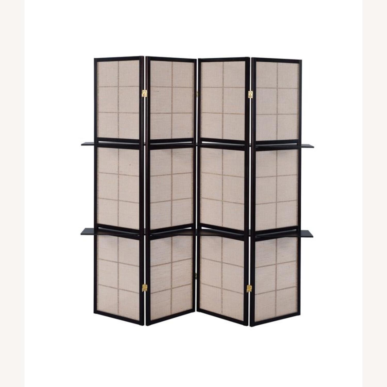 Four-Panel Folding Screen W/ Removable Shelves - image-2