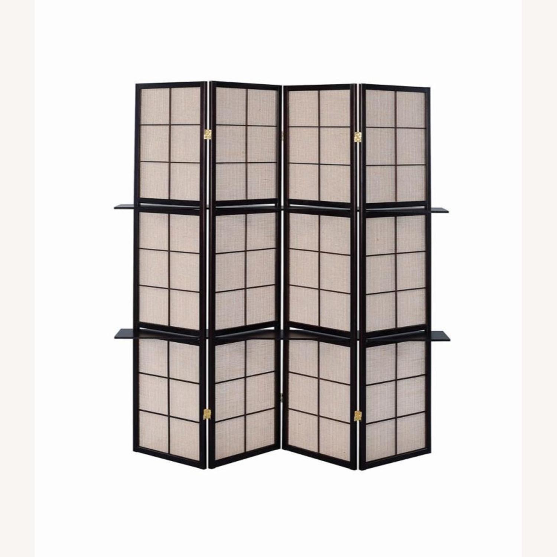 Four-Panel Folding Screen W/ Removable Shelves - image-1